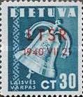 unabhängige Republik Litauen letzte Briefmarke 1940